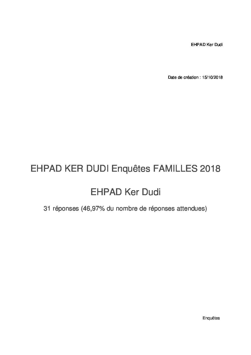 Résultats enquête de satisfaction 2018